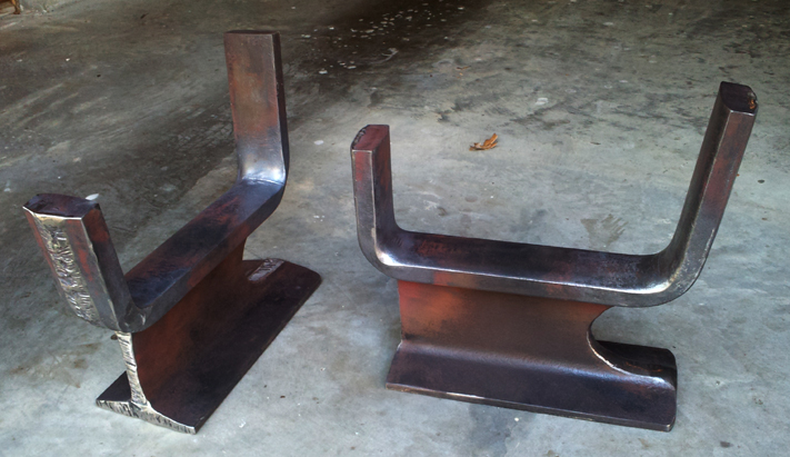Custom Andirons For Fireplace Brad Greenwood Designs
