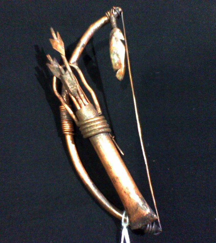 Bow & Quiver Broach/Pin, Copper, Brad Greenwood Designs
