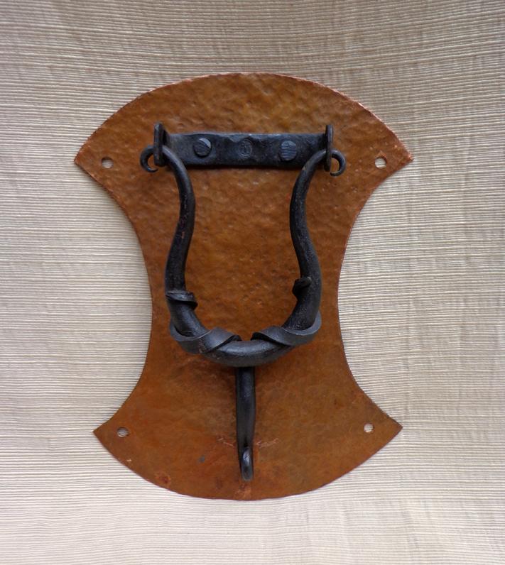 Door Knocker, Copper & Steel, Brad Greenwood Designs