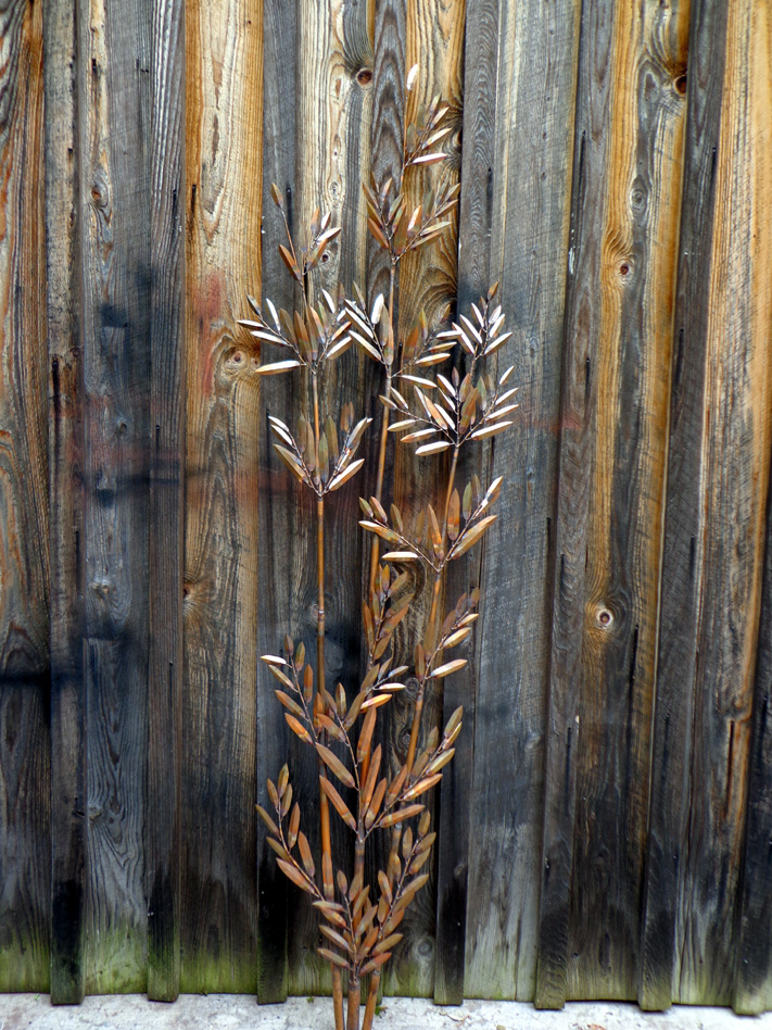 Copper Bamboo Spray Wall Art