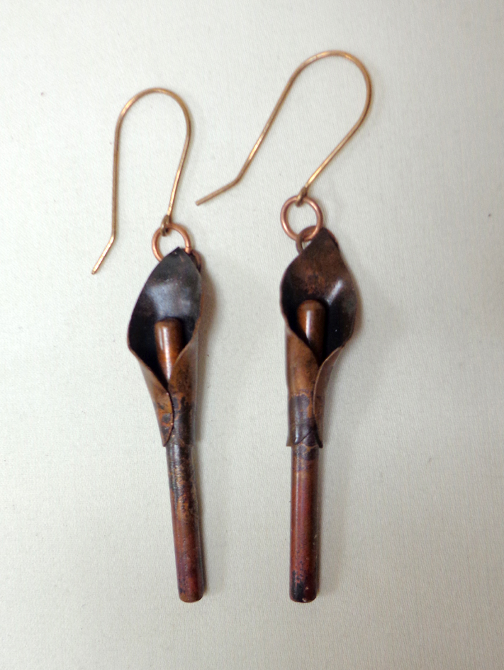 Copper Cally Lily Earrings