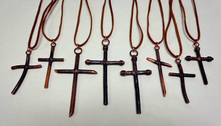 Cross pendant necklaces brad greenwood designs cross pendant necklaces in copper aloadofball Choice Image