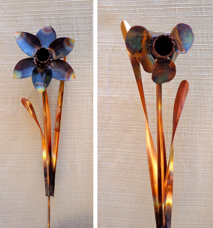 Copper Daffodils, Brad Greenwood Designs