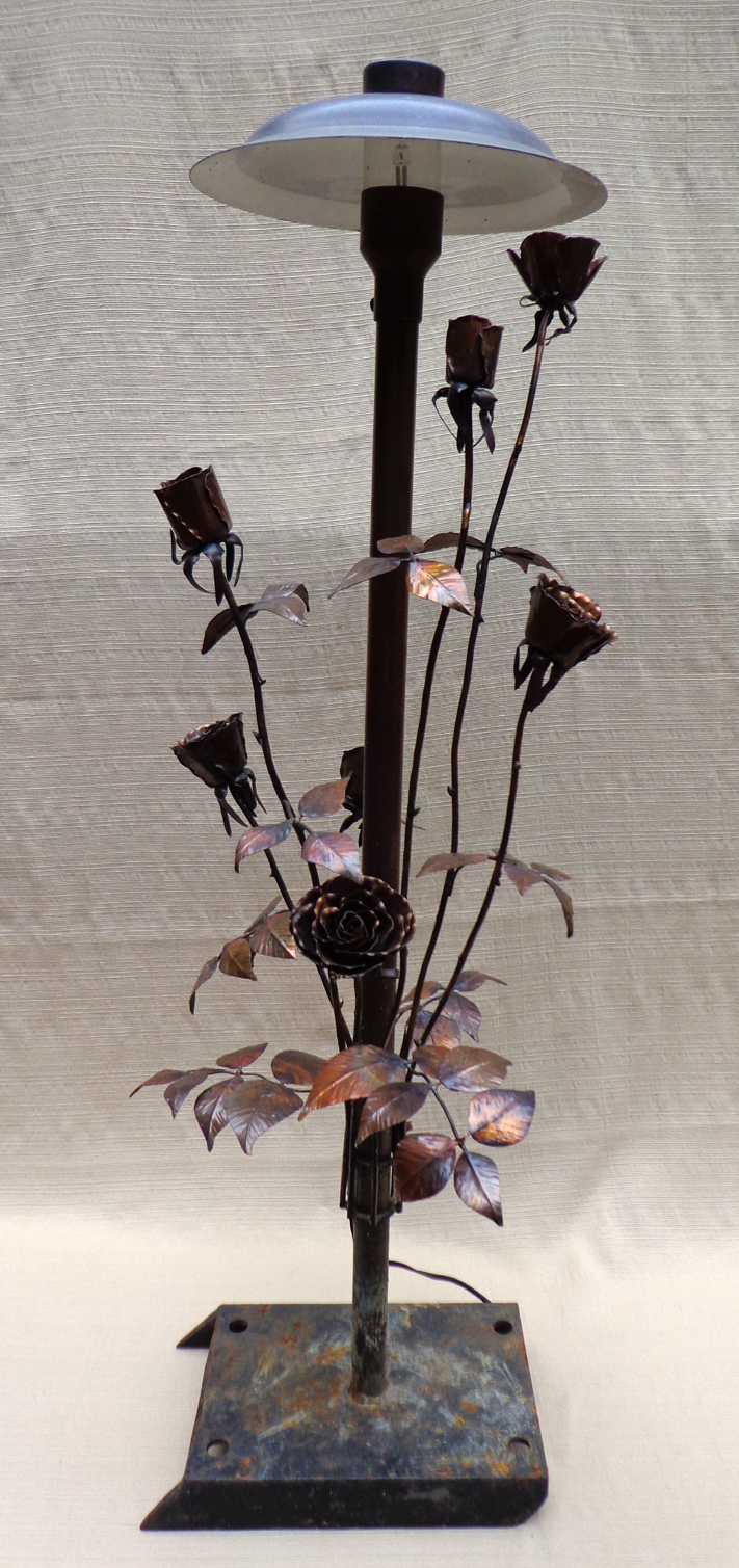 Copper Rose Bush Landscape Light