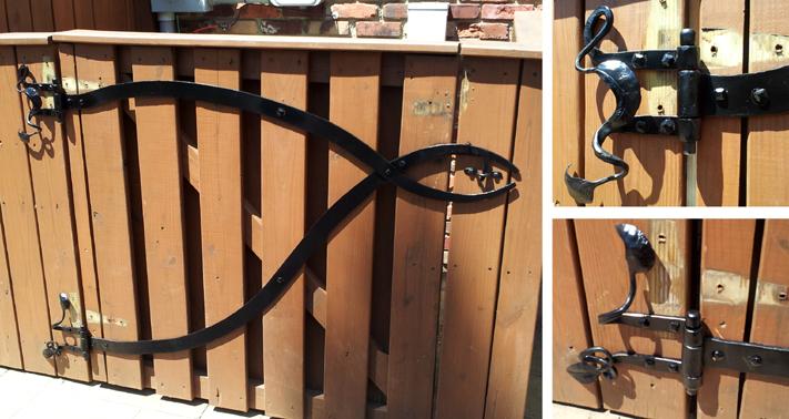 Gate Hinge/Latch Set, Steel, Brad Greenwood Designs