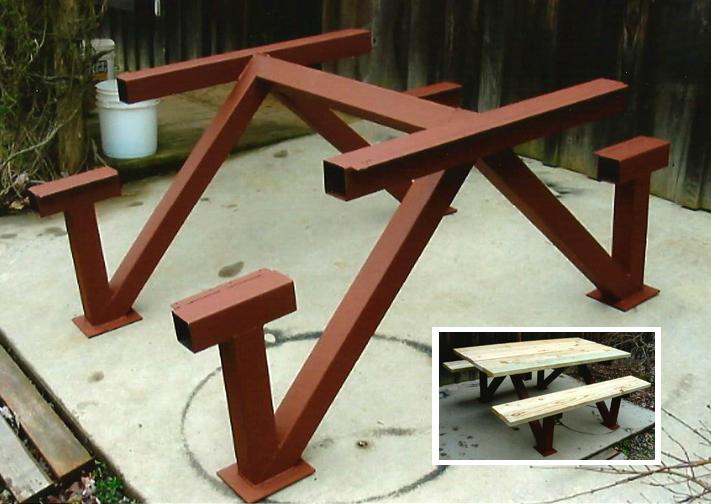 Picnic Table, Steel & Wood, Brad Greenwood Designs