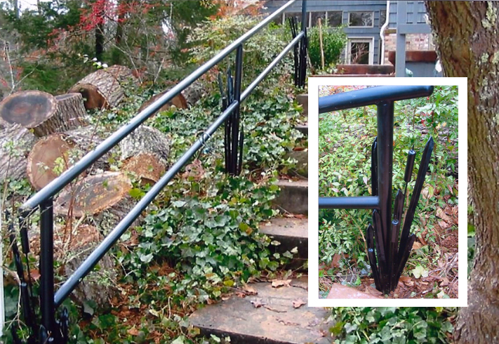 Pipe Handrail w/Cattails, Brad Greenwood Designs