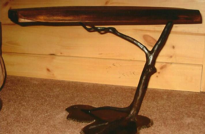 Walnut & Steel End Table, Brad Greenwood Designs