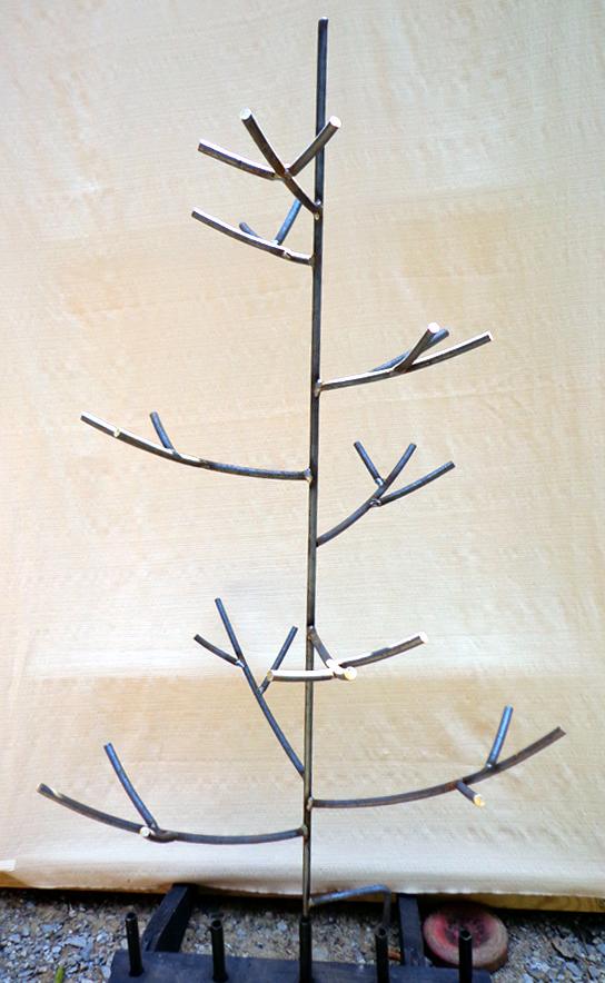 Curved Branch Bottle Tree, Steel, Brad Greenwood Designs