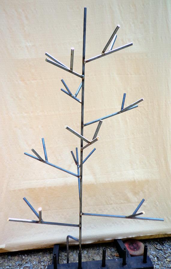 Steel Straight Branch Bottle Tree