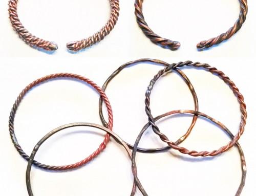 Custom Copper Bangles and Cuffs
