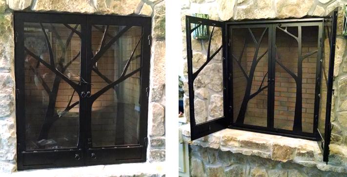 Custom Steel Fireplace Doors | BradGreenwoodDesigns.com