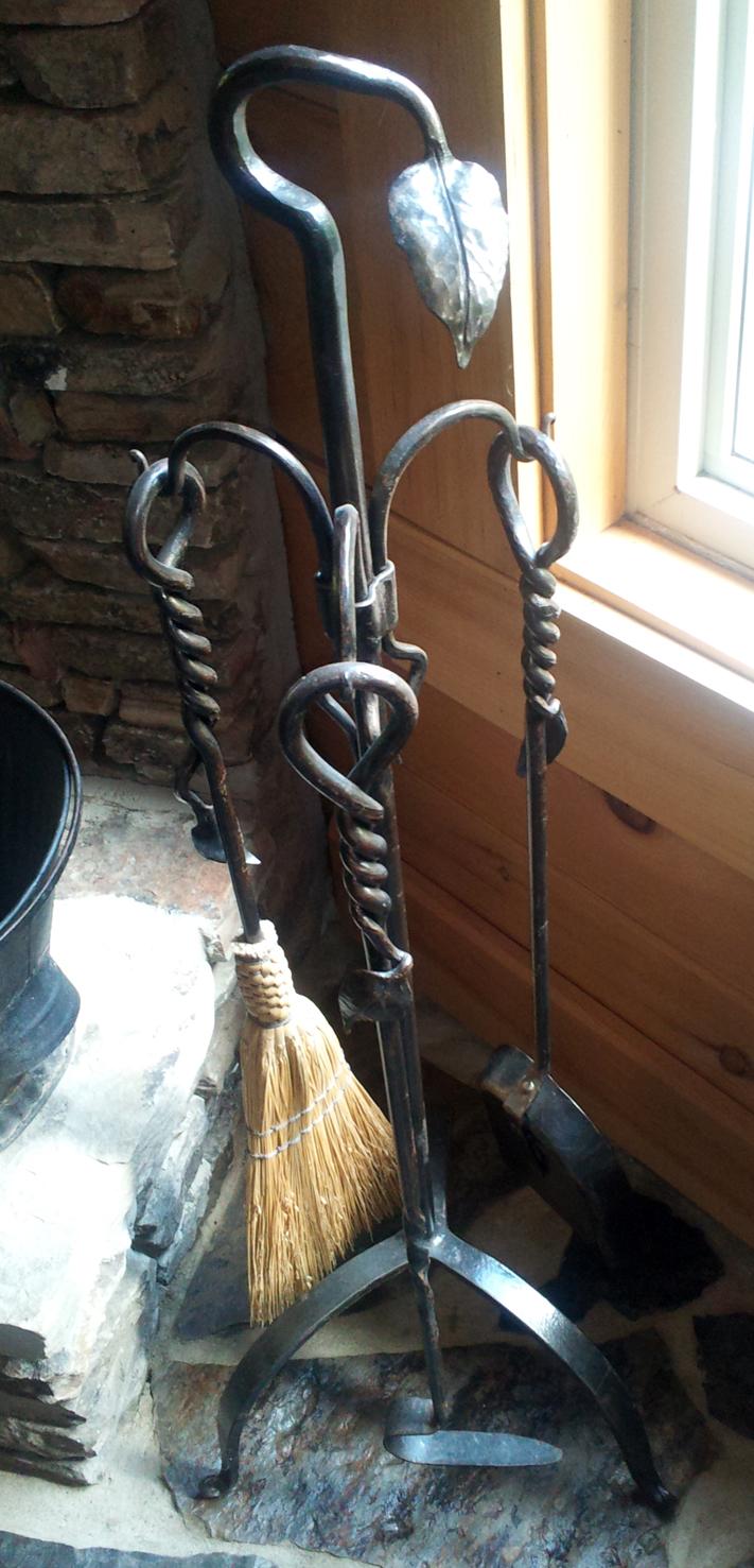 Custom Forged Fireplace Tool Set: BradGreedwoodDesigns.com