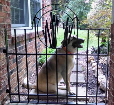 Gate with Cattail Medallion:BradGreenwoodDesigns.com