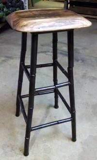 Steel bamboo leg stool: BradGreenwoodDesigns.com