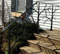 outdoor stair railing: BradGreenwoodDesigns.com